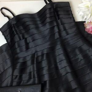 BCBG Tiered Strapless Black Cocktail Dress